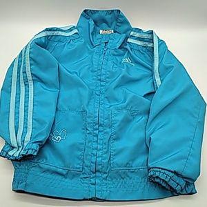 Adidas girls windbreaker 4T blue pre owned